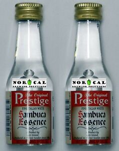 2-PACK-Prestige-WHITE-SAMBUCA-ESSENCE-cocktail-vodka-Italy-drink-shot-spirit