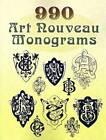 990 Art Nouveau Monograms by Dover (Paperback, 2007)