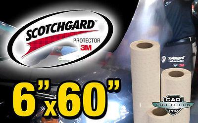 "6""x60""inch Genuine 3M Scotchgard Paint Protection Film Bulk Roll Clear Bra Strip"