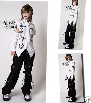 Unisex Visual Kei Gothic NANA Dolly KERA Lolita shirt+arm warmer White S~XL