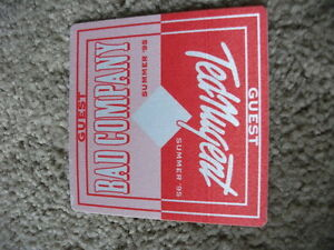 Ted-Nugent-Bad-Company-95-Guest-Tour-Backstage-Concert-Pass-Peel-Stick