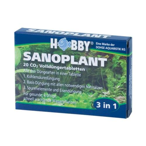 Hobby Sanoplant, CO2 Düngetabletten 20 Tabletten - Kohlenstoff Dünger Aquaristik