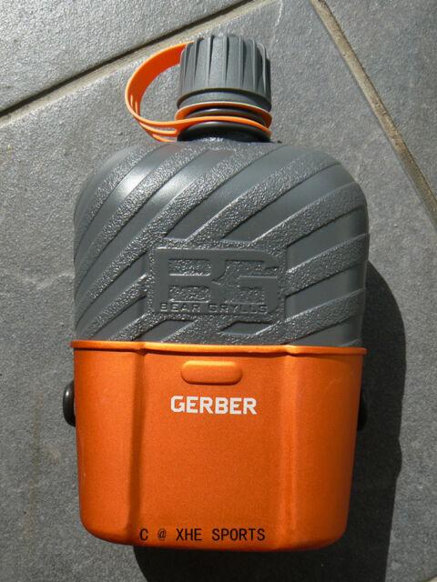 Genuine Gerber Bear Grylls Survival Military Canteen BPA free water bottle 1062