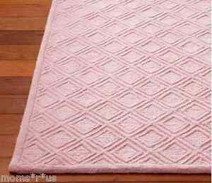 Pottery Barn Kids Somerville Rug Pink 5x8 Feet Sealed New