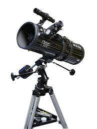 TELESCOPE-FULL-KIT-TRIPOD-FINDER-SCOPE-EQ-MOUNT-3-EYE-PIECES-ASTRONOMY-REFLECTOR