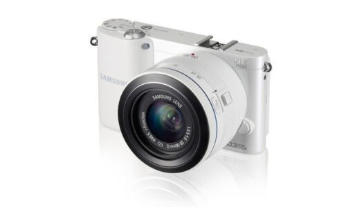 WHITE Samsung NX1100 20.0 MP Digital Camera Kit w/ 20-50mm Lens TFT LCD Screen