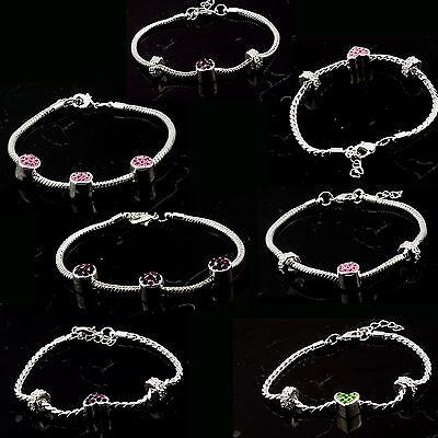 Elegant shiny silver plated bracelet with swarovski crystal designer style