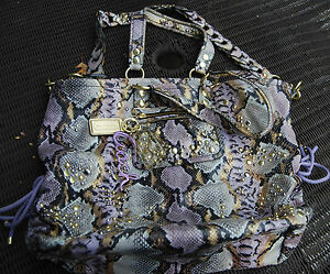 COACH-EXOTIC-POPPY-LEATHER-XL-SPOTLIGHT-PYTHON-EMBOSSED-W-CHARMS-15329