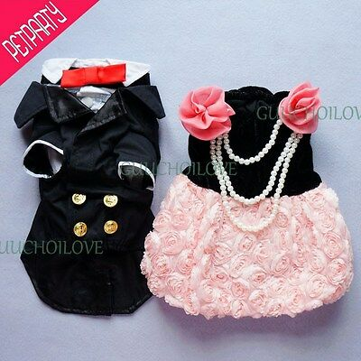 Formal Gown For Dog Clothes Dog Dress Dog Suit Dog Coat Bridal Free Shipping