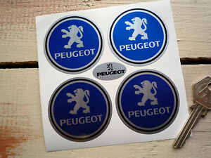 PEUGEOT-Style-Wheel-Centre-Car-Stickers-50mm-205-206-306-406-Gti-106-Turbo-406