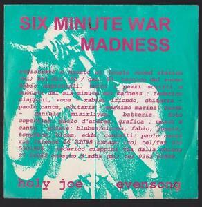 SIX MINUTE WAR MADNESS DISCO 45 GIRI HOLY JOE - CIRCUS BLU BUS - Italia - SIX MINUTE WAR MADNESS DISCO 45 GIRI HOLY JOE - CIRCUS BLU BUS - Italia