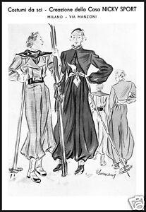 PUBBLICITA-039-1935-NICKY-CHINI-COSTUMI-DA-SCI-MODA-ELEGANZA-DONNA-SPORT-MILANO-SKI