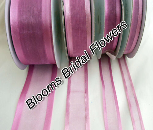 packed flat on card Choose Colour 25 Yds  Satin Edge Organza Ribbon 38mm wide