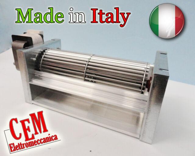Ventilatore motore tangenziale ventola ø 80  lunghezza 270 mm totale 387 mm 220V