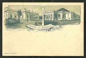 Batavia litho Societeit Theatre Java Indonesia ca 1896