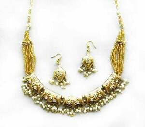 Affordable-Elegance-Handcrafted-India-Lakh-Necklace-Gold-Costume-Jewlery