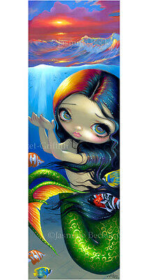 Jasmine Becket-Griffith art BIG print SIGNED Reaching for Sunset mermaid fish