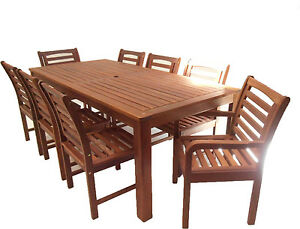 Timber-Outdoor-Furniture-9-piece-2-1x1-Dining-Table-and-Chairs-Setting-Sorrento