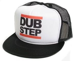 New-Retro-Dub-Step-Hip-Hop-Rap-Flat-Bill-Hat-Cap-Mesh-Foam-Truckers-Snapback