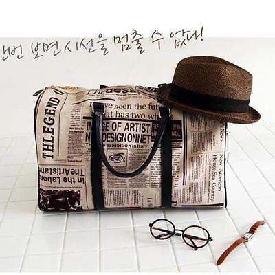 Women's Newspaper Print Hot Trendy Shoulder Bag Handbag Purse CW0092