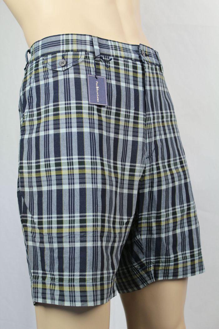 Polo Ralph Lauren MADRAS BLEEKER FIT FLAT SHORT NWT 40