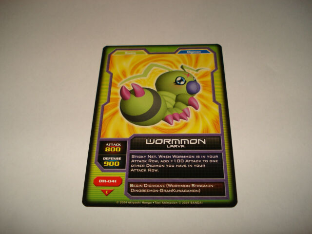 BANDAI DIGIMON CARD DM-041 WORMMON-FREE COMBINED SHIPPING-GREAT CONDITION