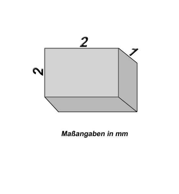 10 Neodym Magnete - 2 x 2 x 1 mm - Neu
