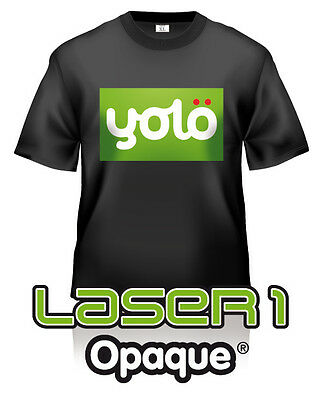 50x A3 Laser 1 Opaque® Photo-Quality Laser Heat Transfer Paper for Dark Fabrics