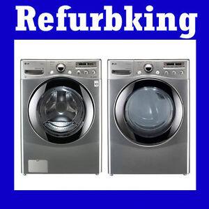 LG-Washer-Electric-Dryer-Set-WM2655HVA-DLEX2655V-Steam-Washer-W-Coldwash