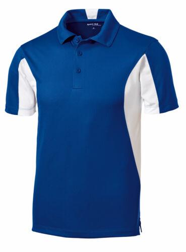 BIG Mens Polo Shirt Moisture Wicking DriFit Snag Resist Color Block XL 2X 3X 4X