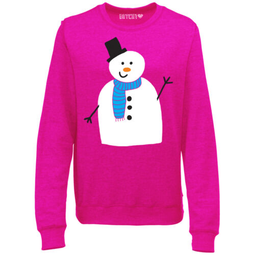 CUTE XMAS SNOWMAN FESTIVE WOMENS FUN NOVELTY CHRISTMAS SWEATSHIRT JUMPER