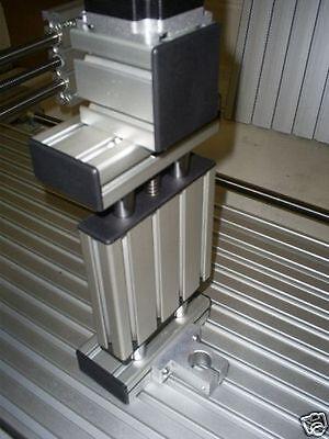 NEMA23 Z Axis CHROME + Linear Bearing Proxxon CNC Kit - 75mm 100mm 200mm Stroke