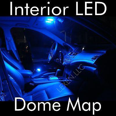 LED B9 BLUE 2X DOME MAP INTERIOR LIGHT BULB 9 SMD CIRCLE PANEL XENON HID LAMP a