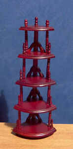 1/12 Dolls house Furniture 5 Tier Plant Stand / Miniature Whatnot display BN LGW