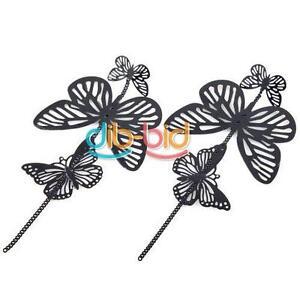 New-Fashion-Women-Jewelry-Charm-Elegant-Big-Butterfly-Dangle-Silver-Earring-SCF
