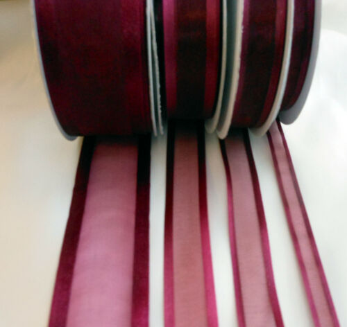 25 Yds  Satin Edge Organza Ribbon 10mm wide  Choose Colour