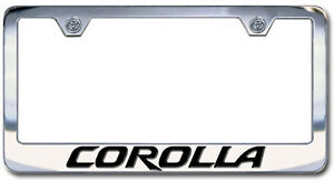 image is loading chrome engraved toyota corolla license plate frame new