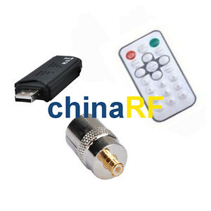 2PCS-DVB-T-USB-TV-FM-DAB-Tuner-Receiver-RTL2832U-R820T-RF-adapter-TV-jack-to-MCX
