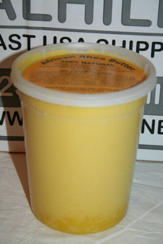 2 Lb GENUINE Virgin RAW Unprocessed UNREFINED PURE Grade A SHEA BUTTER 32oz 2Lbs