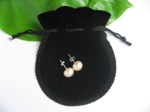 AAA Pink Cultured Freshwater Pearl 925 Stamped Sterling Silver Stud Earrings