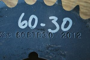 "NEW Martin 60BTB30 NEW 60-30  Taper Lock Sprocket 2 3//4/"" to 2 5//8/"" Bore"