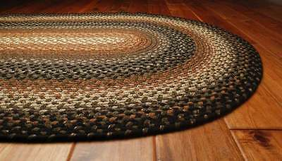 Homespice Cocoa Bean Cotton Braided Area Throw Rug Country Cottage Home Decor