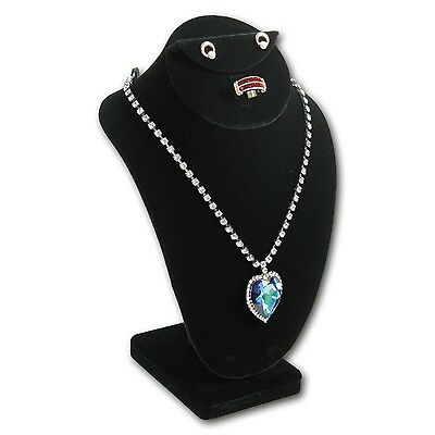 "Necklace Earring Ring Combination Countertop Figurine Bust Display 7 1/2""Tall"