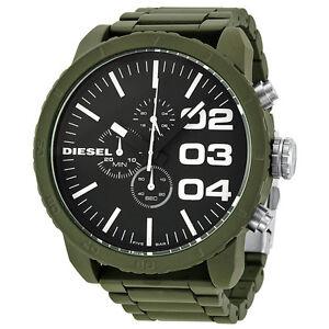 Diesel-Advanced-Chronograph-Green-Plastic-Brown-Beige-Dial-Mens-Watch-DZ4251