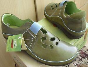 NAOT-RANGI-womens-Green-Jade-Fern-Leather-shoes-clogs-KORU-39-L8-NIB-Ret-160