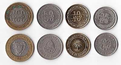 STATE OF BAHRAIN – 4 DIF COINS SET: 10 - 100 FILS BIMETAL