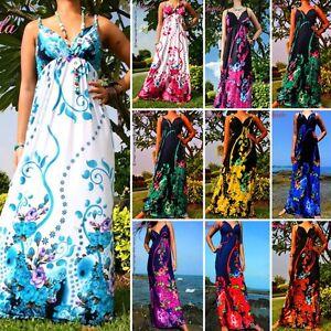 NEW-NWT-Floral-Evening-Summer-Women-Long-Maxi-Dress-Size-Sz-M-XXXL-Plus-8-24-AU