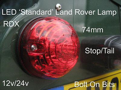 RDX LED Rear Stop/Tail Light/lamp LandRover Defender 90/110 Series 73mm 12v 24v