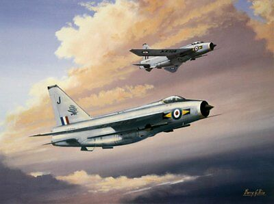 BEAUTIFUL AVIATION PRINT PICTURE PAINTING OF LIGHTNINGS F6
