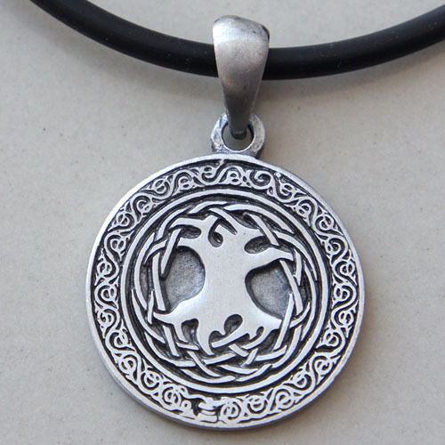 Tree of life Silver Pewter Pendant Charm Amulet Magic Pagan Norse Viking Celtic